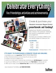 Deadline: Submit all materials for your yearbook ad